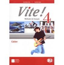 Vite! 4 Cahier - zeszyt ćwiczeń + 1 CD audio - 9788853614377