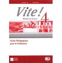 Vite! 4 Guide Pédagogique pour le Professeur + 3 CD audio - 9788853614568