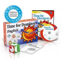 Gra językowa Time for Dominoes - wersja tradycyjna + CD-ROM - 9788853613943
