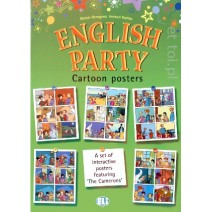 English Party 4 Cartoon Posters - 9788853601124