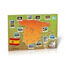 Mapa de España - Poster (Reino de España) - poster cywilizacyjny - mapa ścienna - 9788393511648