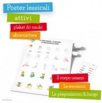 Poster lessicali attivi - Il corpo umano - le emozioni - le preposizioni di luogo - 9788364730320