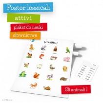 Poster lessicali attivi - Gli animali 1 - 9788364730351