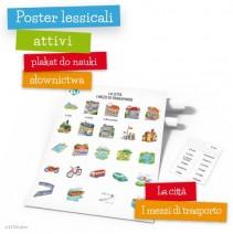 Poster lessicali attivi - La città - i mezzi di trasporto - 9788364730337