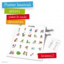 Poster lessicali attivi - Le azioni 2 - 9788364730399