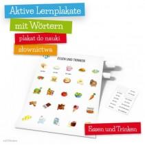 Aktive Lernplakate mit Wörtern - Essen und Trinken - 9788364730405