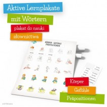 Aktive Lernplakate mit Wörtern - Körper - Gefühle - Präpositionen - 9788364730429