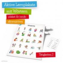 Aktive Lernplakate mit Wörtern - Tätigkeiten 2 - 9788364730498