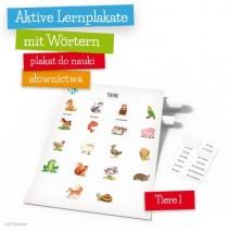 Aktive Lernplakate mit Wörtern - Tiere 1 - 9788364730450