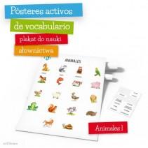 Pósteres activos de vocabulario - Animales - Parte 1 - 9788364730634