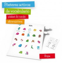 Pósteres activos de vocabulario - Ropa - 9788364730665