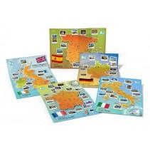 Carte dei Paesi Europei - zestaw posterów cywilizacyjnych - mapy ścienne - 9788393511679