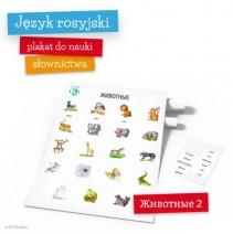 Plakat słówka rosyjskie: Животные 2 - 9788364730290
