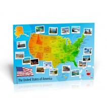 U.S.A. Map (The United States of America) - poster cywilizacyjny - mapa ścienna - 9788364730955