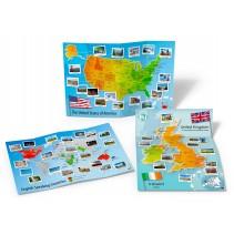 Culture Posters Set - English Speaking World - zestaw posterów cywilizacyjnych - mapy ścienne - 9788364730986