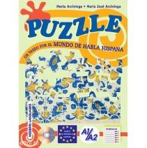 Puzzle - un paeso por el mundo de habla hispana + CD audio - 9788846824615