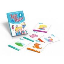 Léo et Théo 1 - cartes illustrés - karty obrazkowe - 9788853624932