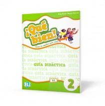 ¡Qué bien! 2 - guía didáctica + 2 CD audio + DVD - przewodnik metodyczny - 9788853623454