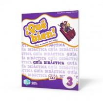 ¡Qué bien! 3 - guía didáctica + 2 CD audio + DVD - przewodnik metodyczny - 9788853623461