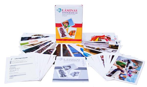 karty fotograficzne do konwersacji język hiszpański laminas fotograficas eli